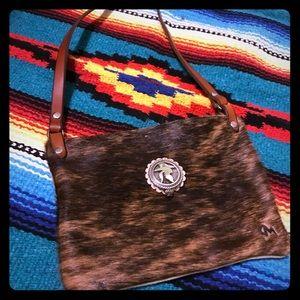Cowgirl Fur Crossbody Leather Bag
